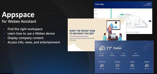 Appspace mit Webex Assistant