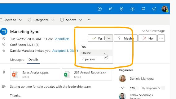 Massiver Fortschritt bei der Termin-Buchung über MS Outlook
